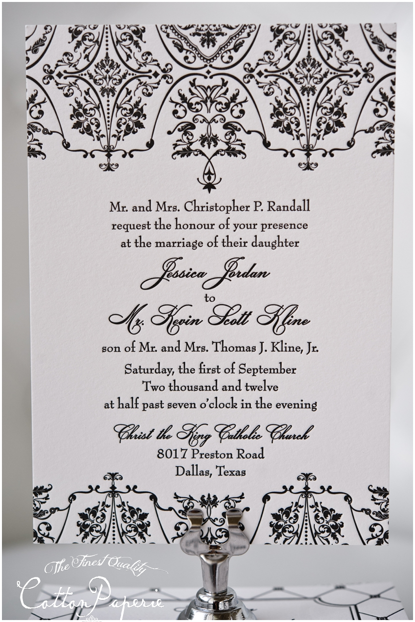 letterpress wedding invitations by CottonPaperie