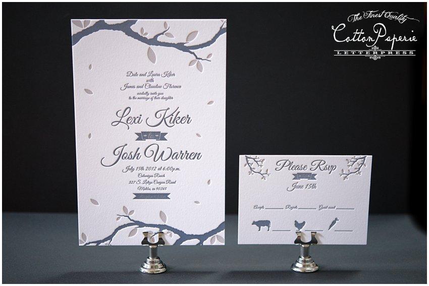 Nature Themed Wedding Invitations Blog Letterpress Wedding Invitations Nature Theme
